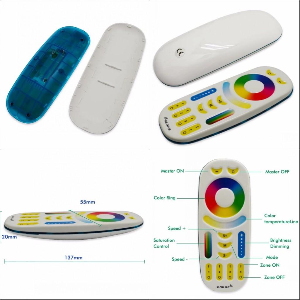 Milight_FUT092_Remote_Control_RGB_CCT_RF_4_Zone_Controller