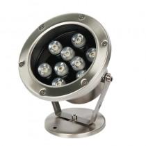 9W Led Underwater Light Outdoor IP68 Waterproof Spotlight Swimming Pool Fountain Lamp