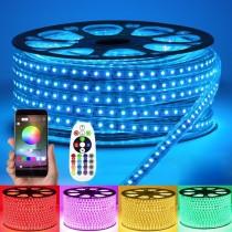 AC 110V 220V High Voltage RGB LED Tape Lights Waterproof IP67 16.4Ft 5M
