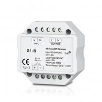 100-240VAC Triac RF Dimmer S1-B RF Push Dimmer For Led Strip Light Kit