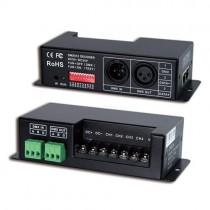 DC12V 24V 5A 4Channel DMX512 Controller Decoder RJ45 Interface