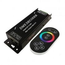 DC 5V 12V 24V 5A 3CH DMX512 Controller DMX Decoder with RF Remote