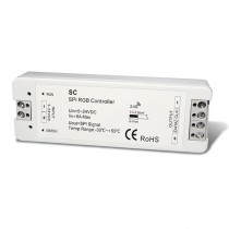 DC5-24V RF 2.4G Wireless Receiver SPI LED Controller SC For RGB LED Lamp