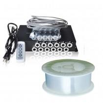 Music Control LED Light Fiber Illuminator for Meteor Twinkle Effect with PMMA Endlit Optical