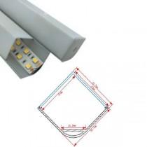 1M Led Corner Recessed Aluminum Channel Profile 20pcs