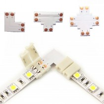 L T Shape 2Pin Single Color LED Strip Lights Fast Conector 50pcs