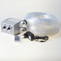 5m Dim Multicolor Fiber Lamp With Cree Chip 10w Led Light Emitter 800 stars fiber optic tails
