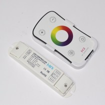 DC12V-24 3CH RF Led RGB Controller With Wall Mounted Touch Panel Remot