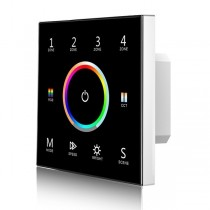 Skydance T15 4 Zones 2.4G RGB+ Color Temperature Touch Panel Remote LED Control AC 85-265V