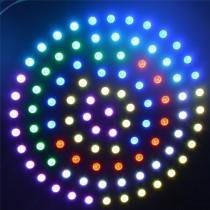 WS2812B 241 Leds Ring 5050 RGB LED Ring Lamp Light with Integrated Driver Black PCB DC5V